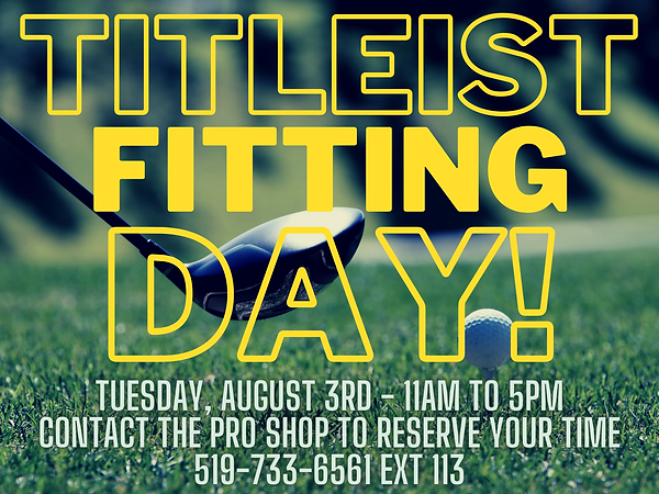 Titleist Fitting Day at Kingsville Golf!