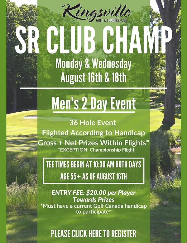 2021 Senior Club Champ Registration