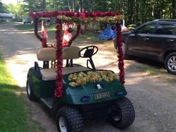 Golf Cart Decorated