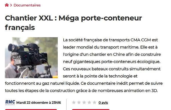 Chantier XXL Mega porte-conteneur frança