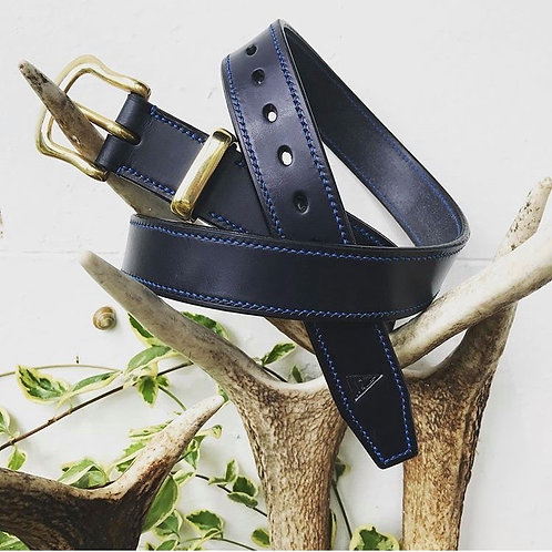 """Fully Stitched 1 1/4"""" Leather Belt"""