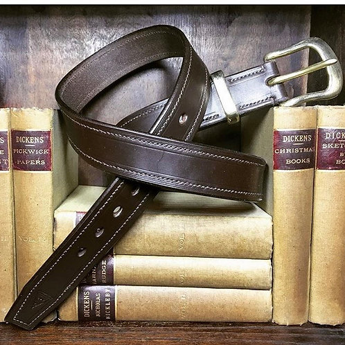 """Fully Stitched 1 1/2"""" Leather Belt"""