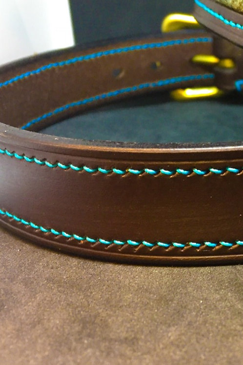 """Fully Stitched 1"""" Leather Belt"""