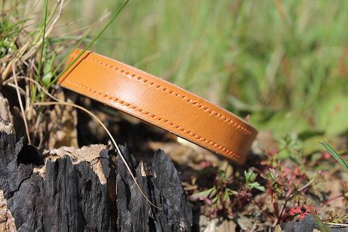 Fully Stitched Leather Dog Collar