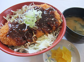 pork cutlet bowl-miso sauce