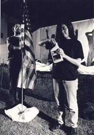 Con Víctor Martinez en Terreno peligroso. 1995