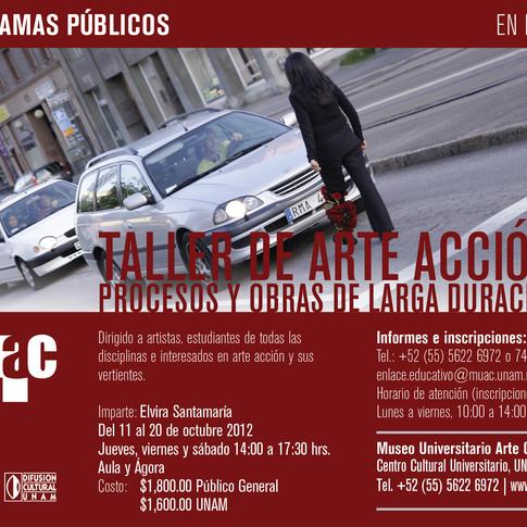 Taller de Arte Acción, MUAC 2012