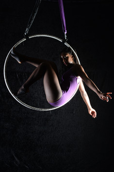 Rosalyne is a trained aerialist specialising in Aerial Hoop. Previously peformed with CircusMASH, Ferrels Circus, Chaplins Circus