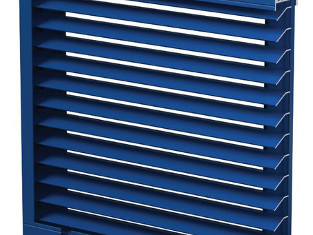 Narrow profile louvers with up to 70% free area!