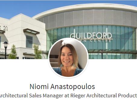 Welcome Niomi - BC Architectural Sales
