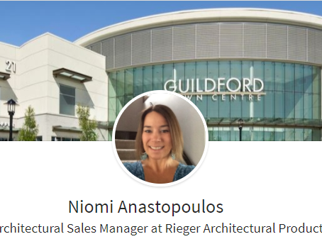 Welcome Niomi - BC Architectural Sales