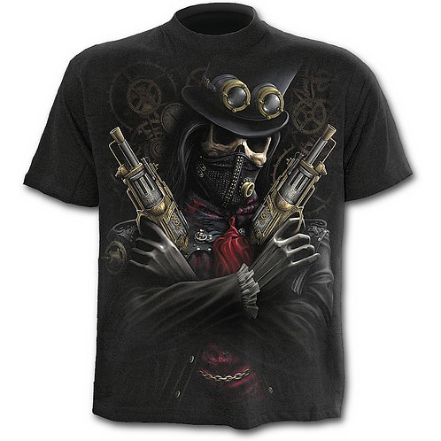 Steam Punk Bandit T-Shirt in Black