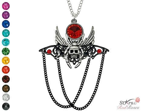 Scarlet Crystal Hybrid Necklace