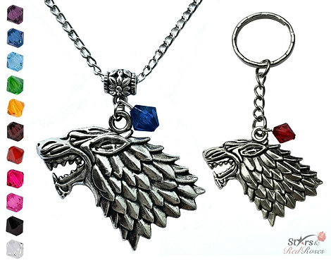 House Stark Necklace or Keychain