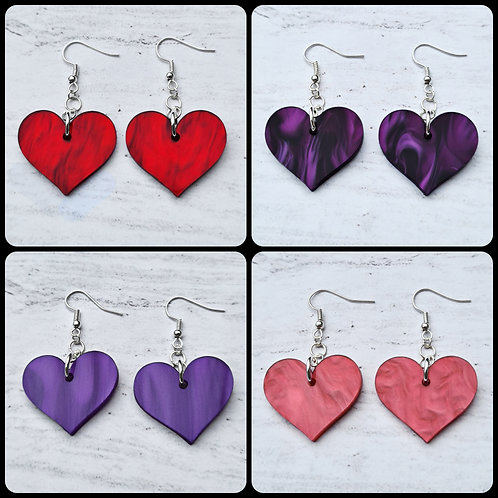 Heart Dangle Earrings