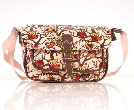 Pink Shoulder Bag w/ Front Pocket & Buckle