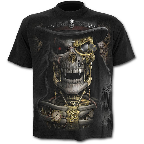 Steam Punk Reaper T-Shirt in Black