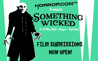 HorrorConUK Something Wicked Convention poster scary fun entertaining horror merchandise