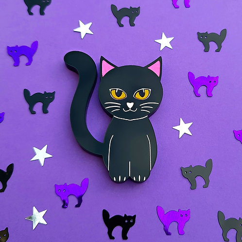 Cute Black Cat Brooch