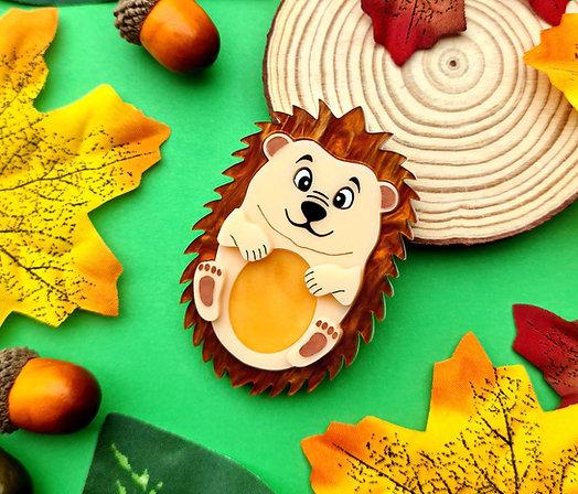 Henry the Hedgehog Acrylic Brooch