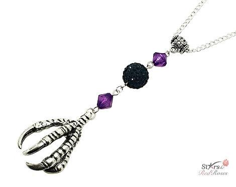 Dragon Claws Talon Silver Charm Necklace