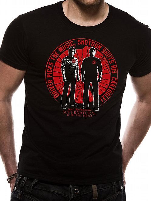 Supernatural Unisex T-Shirt - Driver Picks the Music