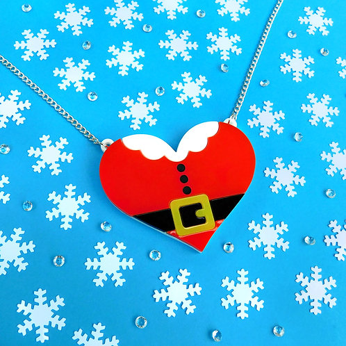 Santa Heart Necklace