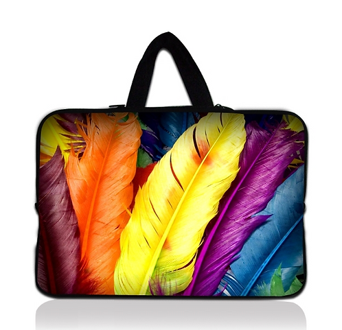 """Coloured Feathers Laptop Sleeve Case 15"""""""
