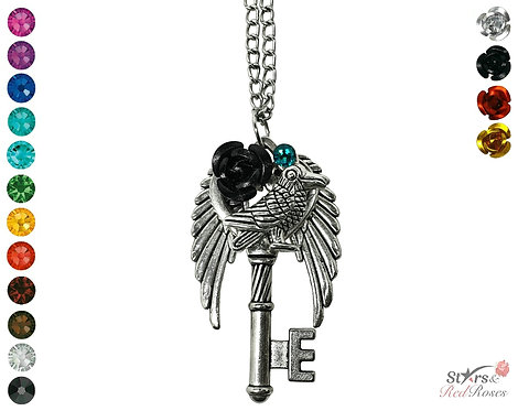 Custom 'Crow's Oath' Key Necklace
