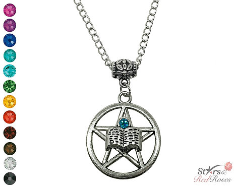 Guardian's Grimoire Spellbook Necklace