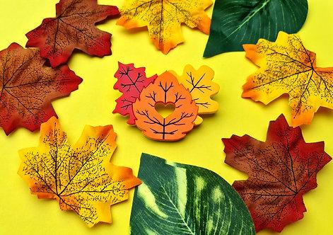 Autumn Leaves Trio Acrylic Brooch