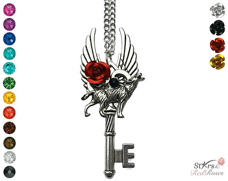 Custom 'Young Wolf' Key Necklace