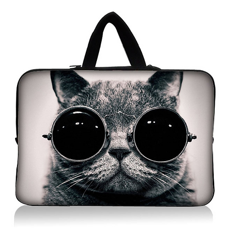 Cool Cat with Shades Laptop Sleeve Case 15""
