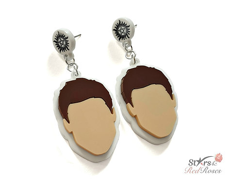 Dean Winchester Drop-stype Stud Earrings