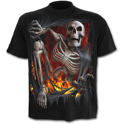 Death Re-Ripped T-Shirt in Black
