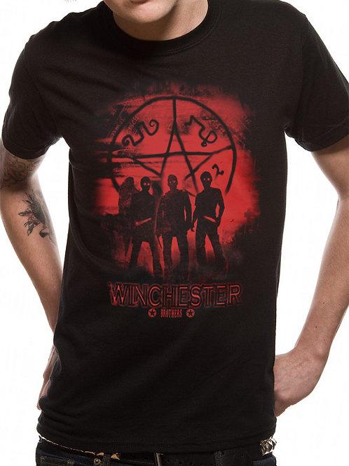 Camiseta unisex sobrenatural - Esquema rojo y negro