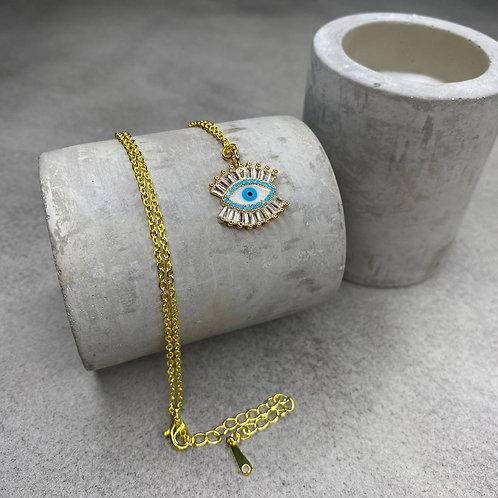 Evil Eye Lash Necklace