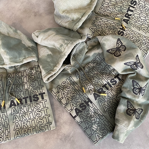 Army Hoodie - Black Print