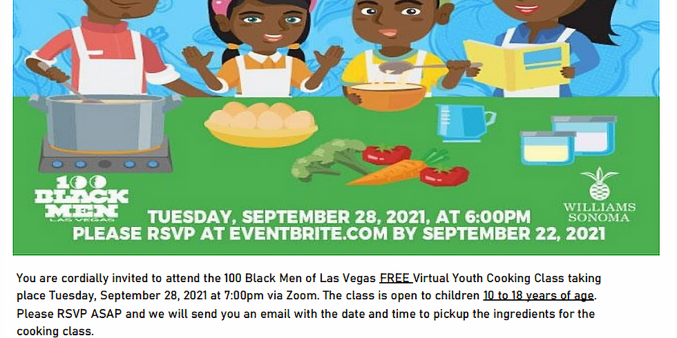 Virtual Youth Cooking Class