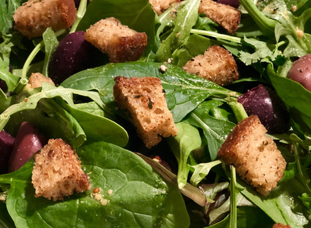Sourdough Garlic Herb Croutons