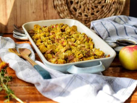 Garlic Herb Apple Stuffing