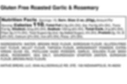Gluten Free Roasted Garlic & Rosemary -