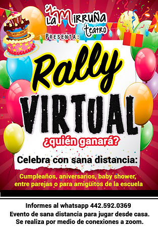 rally virtual sana distancia mirruña tea