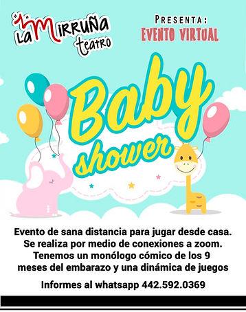 Baby shower virtual con La Mirruña Teatr
