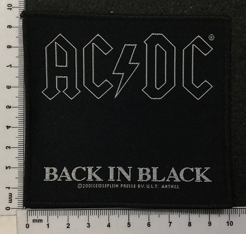 AC/DC - BACK IN BLACK WOVEN PATCH