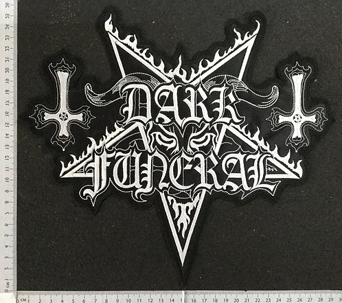 DARK FUNERAL - LOGO EMBROIDERED BACK PATCH