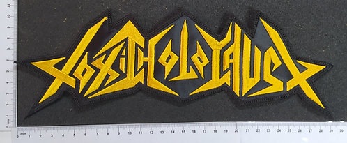 TOXIC HOLOCAUST - YELLOW LOGO EMBROIDERED BACKPATCH