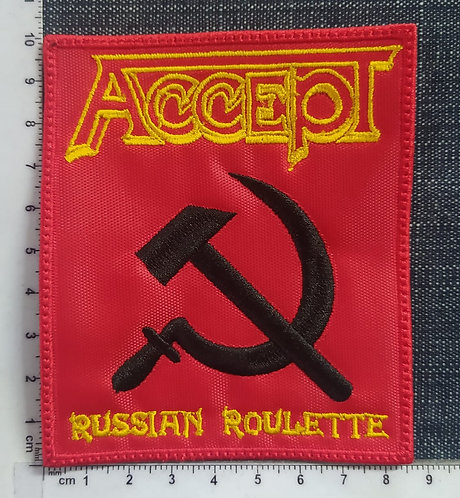ACCEPT - RUSSIAN RECTANGLE EMBROIDERED PATCH