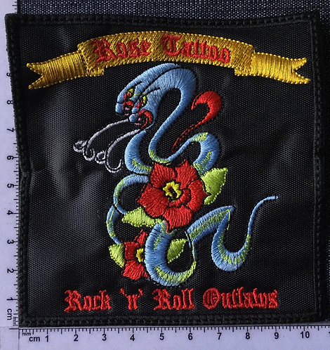ROSE TATTOO - ROCK 'N' ROLL... EMBROIDERED PATCH