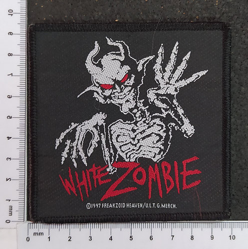 WHITE ZOMBIE - RED EYE CREEP WOVEN PATCH